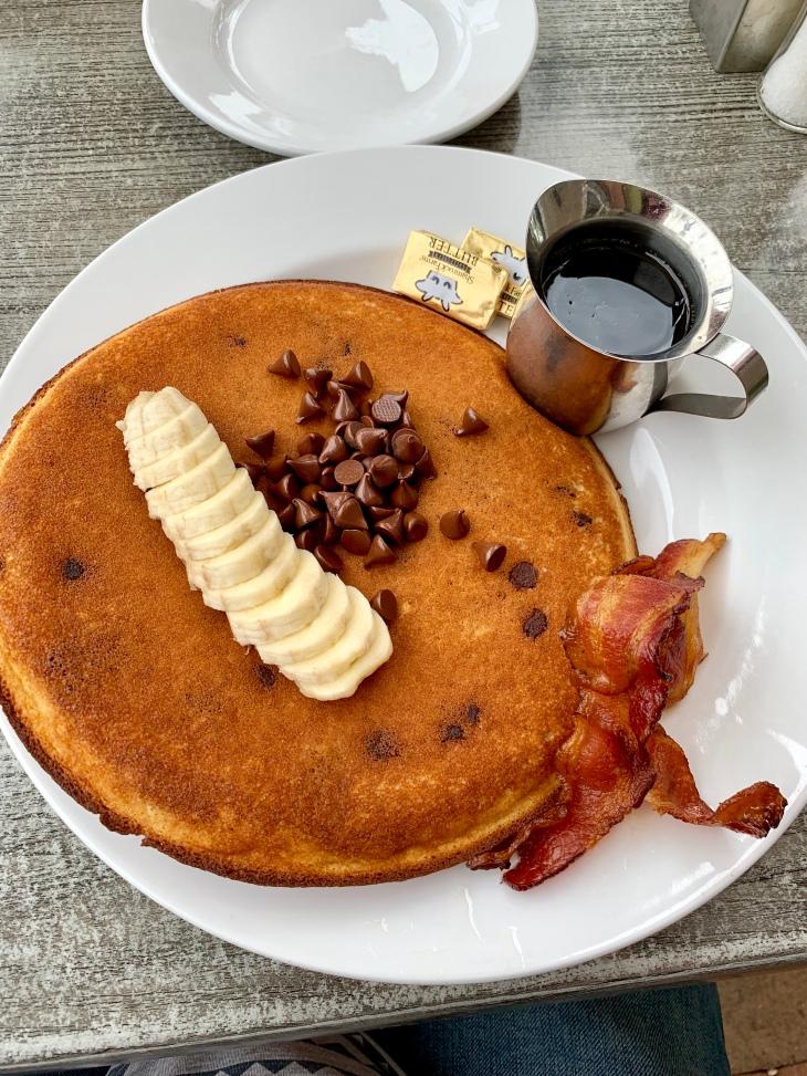 Fez Jumbo Pancake with Banana and Chocolate Chip